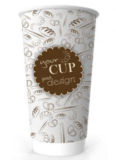 20oz Printed Paper Eco-Coffee Cups
