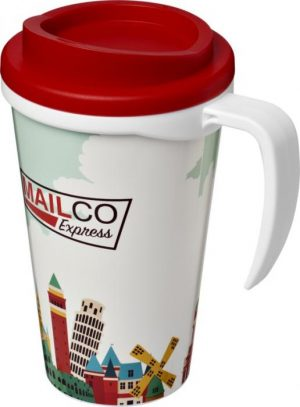 350ml Insulated Tumbler with Red Lid