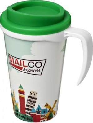 350ml Insulated Tumbler with Green Lid