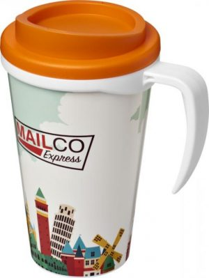 350ml Insulated Tumbler with Orange Lid