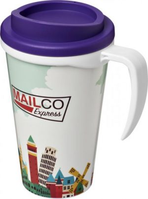 350ml Insulated Tumbler with Purple Lid