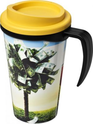 350ml Insulated Tumbler with Yellow Lid