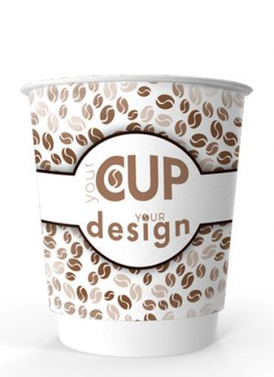 8oz Printed Paper Eco-Coffee Cups