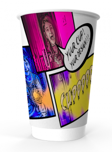 16oz custom printed coffee cup