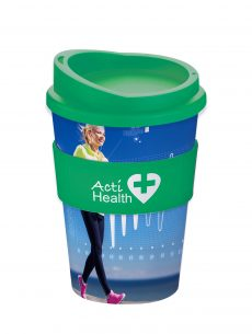 Americano Coffee Cup Full Colour with Grip