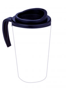 Plain Americano Cup with Handle
