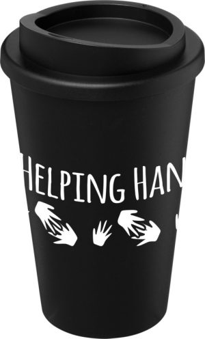 Black Insulated Tumbler with Black Lid