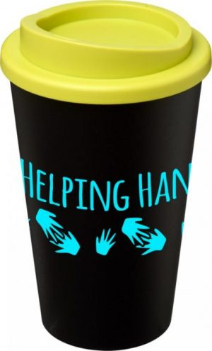 Black Insulated Tumbler with Lime Lid
