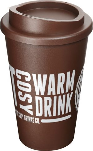 Brown Insulated Tumbler with Brown Lid