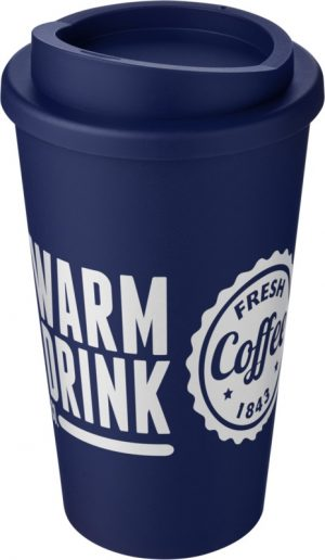 Blue Insulated Tumbler with Blue Lid