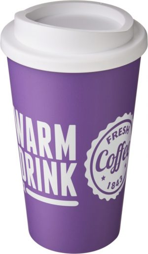 Purple Insulated Tumbler with White Lid