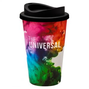 Full Colour Universal Cup with Black Lid