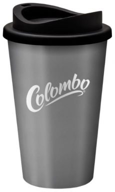 Universal tumbler grey with black lid