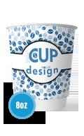 custom printed 8oz Printed Paper coffee cup