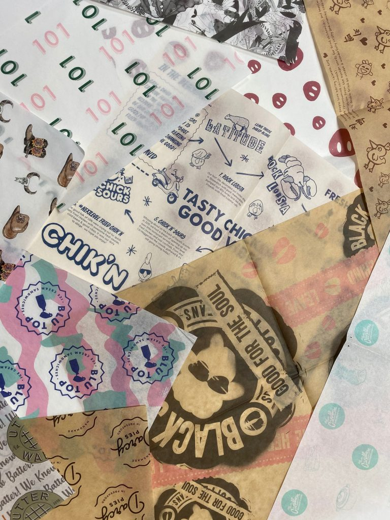 Greaseproof Paper Logo Printing